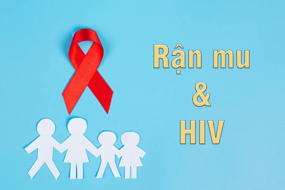 Người nhiễm HIV rận lông mu